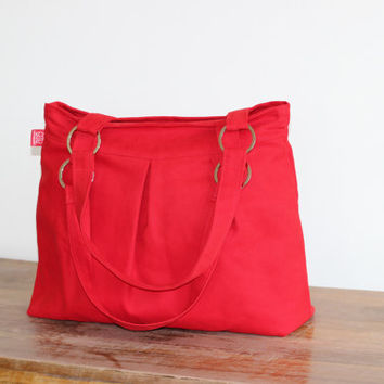 Red Canvas Purse Bag Stainless Accessories Washable Shoulder bag  Stylish and Durable Handbags Everyday Diaper bag DIFFERENT COLOR AVAILABLE