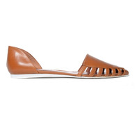 Leather Lattice D'Orsay Flat | Jenni Kayne | Store