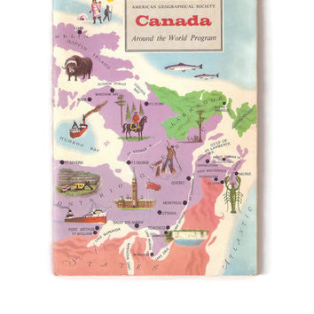 Vintage Book of Canada, Canadian History and Geography, Paperback Booklet