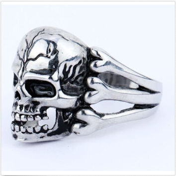 Ghost Era - Skull Bones Ring - Silver