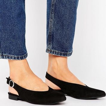 New Look Suedette Slingback Shoe at asos.com