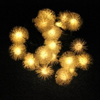 Innoo Tech 20 LED Outdoor String Lights Solar Fairy Lights for Patio Garden Lawn Christmas Holiday Wedding Party Warm White Chuzzle Ball Shape