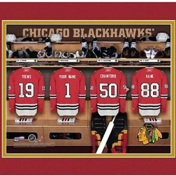 Hockey-NHL Chicago Blackhawks Locker Room Print personalized gift it!