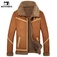 Winter Outerwear Male Fur Coat Men's Leather Jacket Men Velvet Thickening Slim Leather Fur Coat