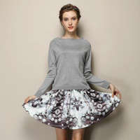 Knitted Sweater +  Skirt ,2 Sets = 1946195844