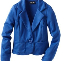 2 Hip By Wrapper Big Girls' Solid Ponti Long Sleeve Jacket with 2 Pockets