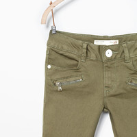 Seams and zips trousers