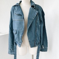 JOCELYN OVERSIZE DENIM JACKET- BLUE