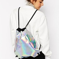 ASOS Hologram Drawstring Backpack