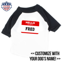 Raglan Tee - Hello My Name Is