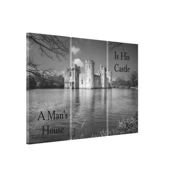A Man's House Is His Castle Bodiam Castle Canvas Print
