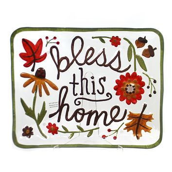 Tabletop Bless This Home Platter Tabletop
