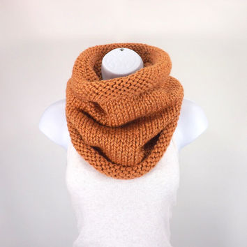 Knit Chunky Cowl Neck Warmer // The Ghent // in Apricot