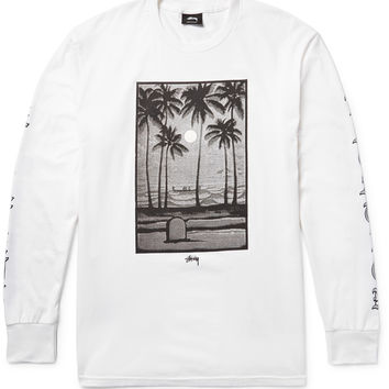 Stüssy - Permanent Vacation Printed Cotton-Jersey T-Shirt
