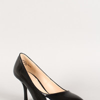 Bamboo Patent Pointy Toe Stiletto Pump