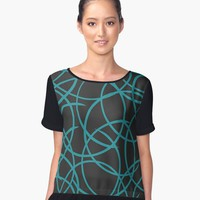 'Tandem' Women's Chiffon Top by David Darcy
