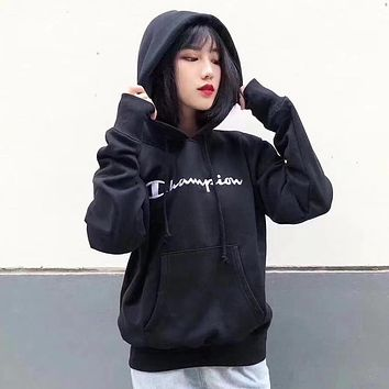 Champion Woman Men Fashion Embroidery Hoodie Top Sweater