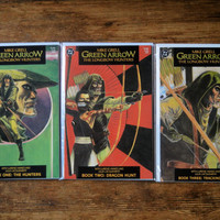 Green Arrow: The Longbow Hunters; V1, 1 through 3.  NM+. 1987.  DC Comics