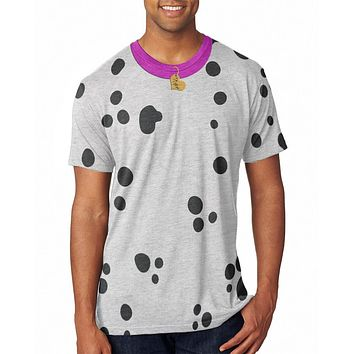 Valentine's Day Dog Dalmatian Costume Pink Collar Be Mine All Over Mens T Shirt