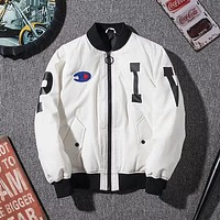 Champion Women Fashion Casual Embroidery Down Jackets