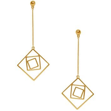 LILA GEO DANGLE EARRING IN GOLD