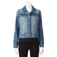 Mudd Distressed Jean Jacket - Juniors', Size: