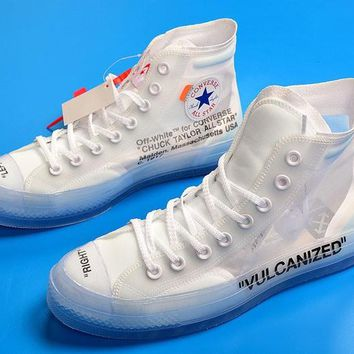 2018 Off-white X Converse Chuck Taylor All Star By Virgil Abloh Custom Aa3836-100 - Beauty Ticks