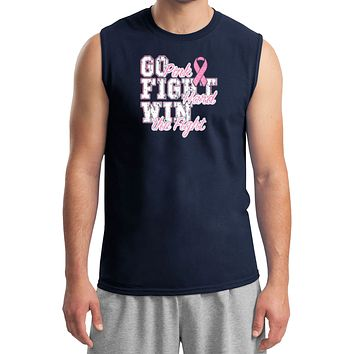 Breast Cancer T-shirt Go Fight Win Muscle Tee