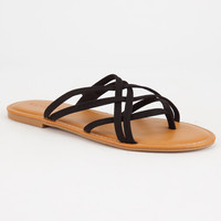 BAMBOO Criss Cross Womens Thong Sandals | Sandals