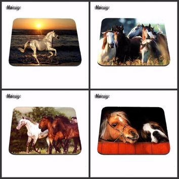 Horse Head  And Gog Fashion Desk Computer Custom Gaming Mouse Pads for Size 18*22cm and 25*29cm And 25*20cm As A Gift