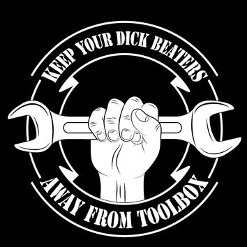 Dick Beaters Sign Decal Hand wrench
