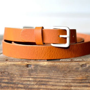 Leather Belt medium Brown  / Women leather belt / Men Leather Belt / gift for her / gift for him