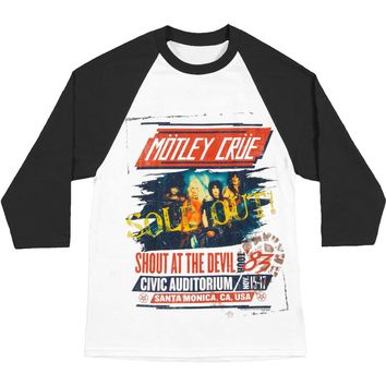 Motley Crue Men's  SATD Tour Baseball Jersey Black/White