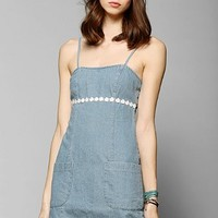 Pins And Needles Denim Daisy-Trim Tank Dress - Urban Outfitters