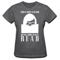 Womens Geek Shirt Reading Bookworm Book Lover Chic Nerd Girl Short Sleeve Tshirt Library Glasses Hipster Soft Cotton Clothing S M L XL XXL