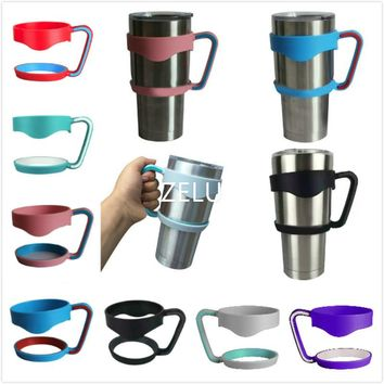 ZELU Universal Standard Multicolor Cup Holders For 30oz Yeti cup Stainless Steel Insulated Tumbler Mug Handle Drop 9D