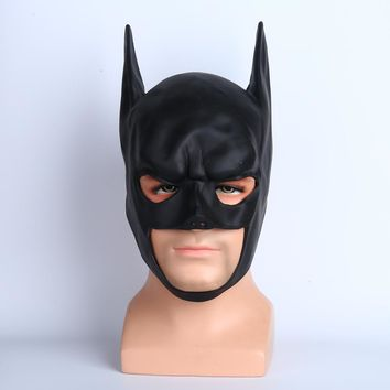 Batman Arkham Knight Bruce Wayne The Dark Knight Superhero Black Latex Full Head Cosplay Masks Party Halloween Props