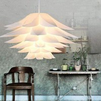 Modern Lotus Pendant Chandelier Pendant Ceiling Lamp Hanging Lighting Lampshade