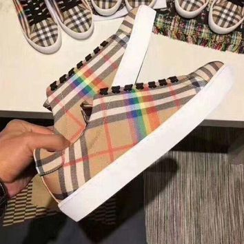 Burberry Women Fashion Old Skool Sneakers Sport Shoes