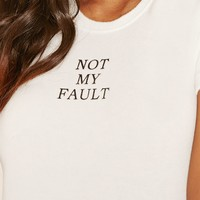 Not My Fault Fleece Crop Top