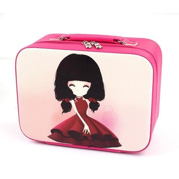 Vanity Necessaire Necessaries For Women Makeup Cosmetic Bag Organizer Travel Toiletry Kit Beauty Cases Make Up Box Handbag Pouch