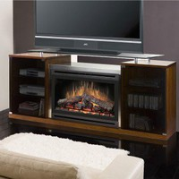 "Dimplex Ovation Marana Cherry Fireplace & 76"" TV Stand - SAP-500-C - Fireplaces & Accessories - Decor"