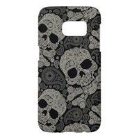Sugar Skull Pattern Samsung Galaxy S7 Case