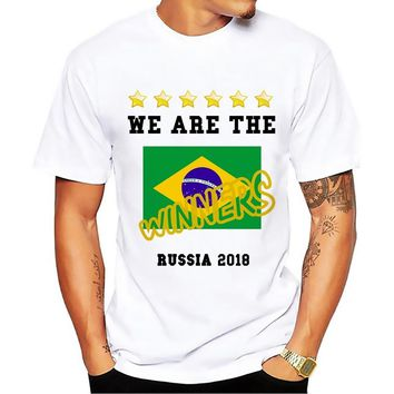 WE ARE THE WINNERS of Russia  T shirt MEN 2018 white tshirt homme Group E Brazil Costa Rica Serbia Switzerland t-shirt