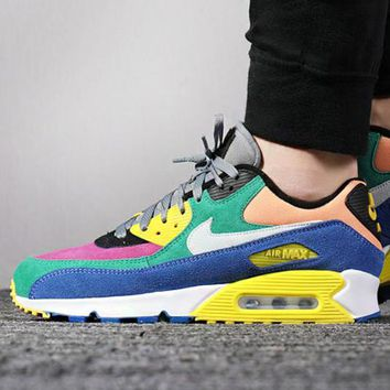 Nike Air Max 90  New fashion multicolor couple running shoes