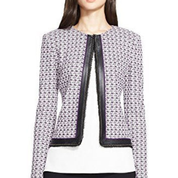 St. John Collection Crosshatch Tweed Knit Jacket