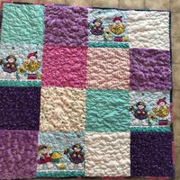 Easter bunny blanket , Easter bunny quilt, Easter blanket, Easter quilt, Easter bunny baby gift, Homemade baby quilt