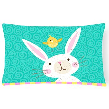 Happy Easter Rabbit Canvas Fabric Decorative Pillow VHA3032PW1216