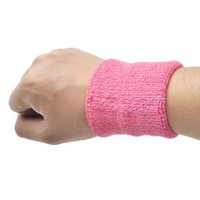 GOGO Terry Cloth Wristband, Wrist Sweatband, Athletic Wristband for Sports (Price for PIECE) - Pink,3in