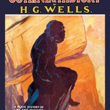 Outline of History by HG Wells, No. 1: The Making of Our World: Fine art canvas print (12 x 18)